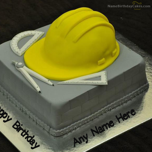 Civil Engineer Custom Write Name On Birthday Cake For Civil Engineer Picture  Amin .