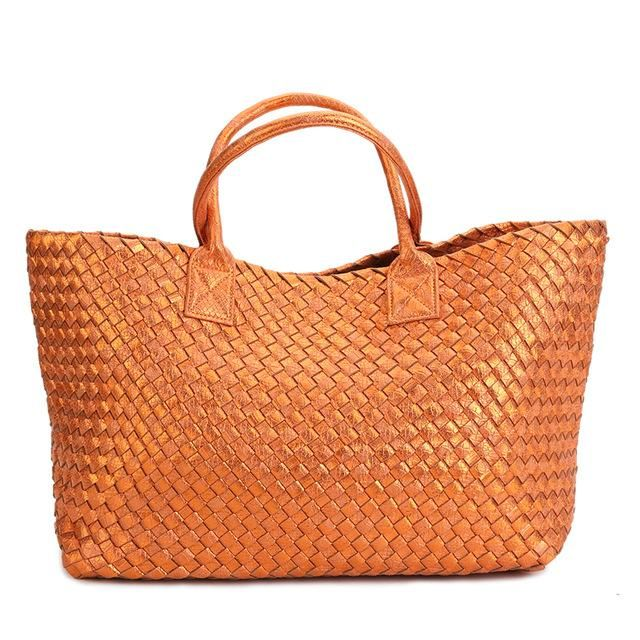 77e3fc14eed4 Metallic Woven Tote Bag - 16 Colors. This fantastic metallic basket woven  bag is like continuation of that hot summer straw bag into fall.