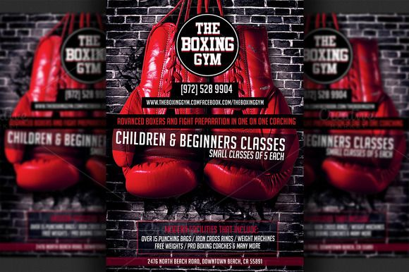 Boxing Gym Flyer Template  Boxing Gym Flyer Template And Template