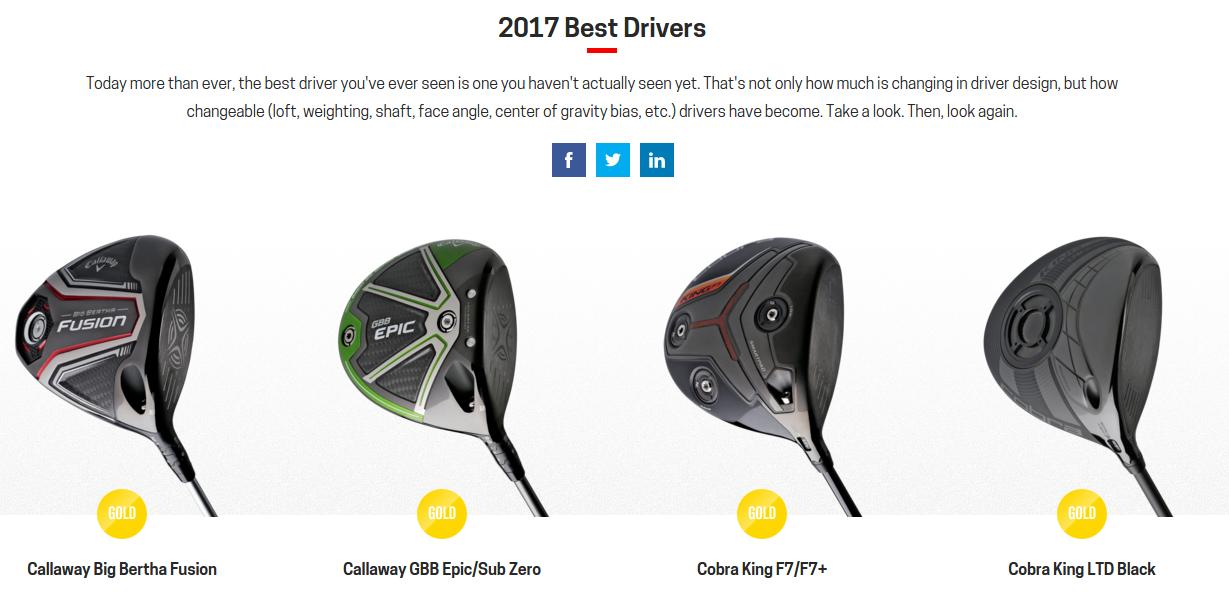 golfdigest hot list 2015 drivers