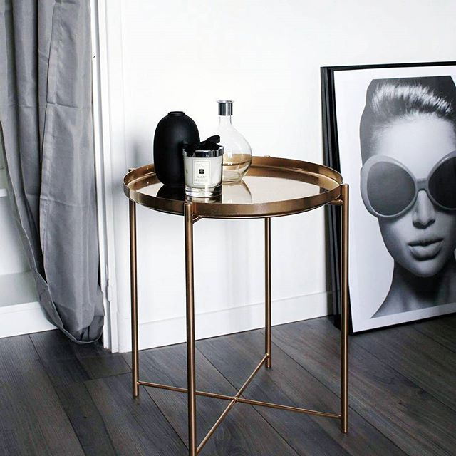 New Diy On The Blog To Make This Copper Table The Whole Thing Comes Back For Less Than 29 I Even Went To Youtube To Diy Ikea Idee Deco Ikea