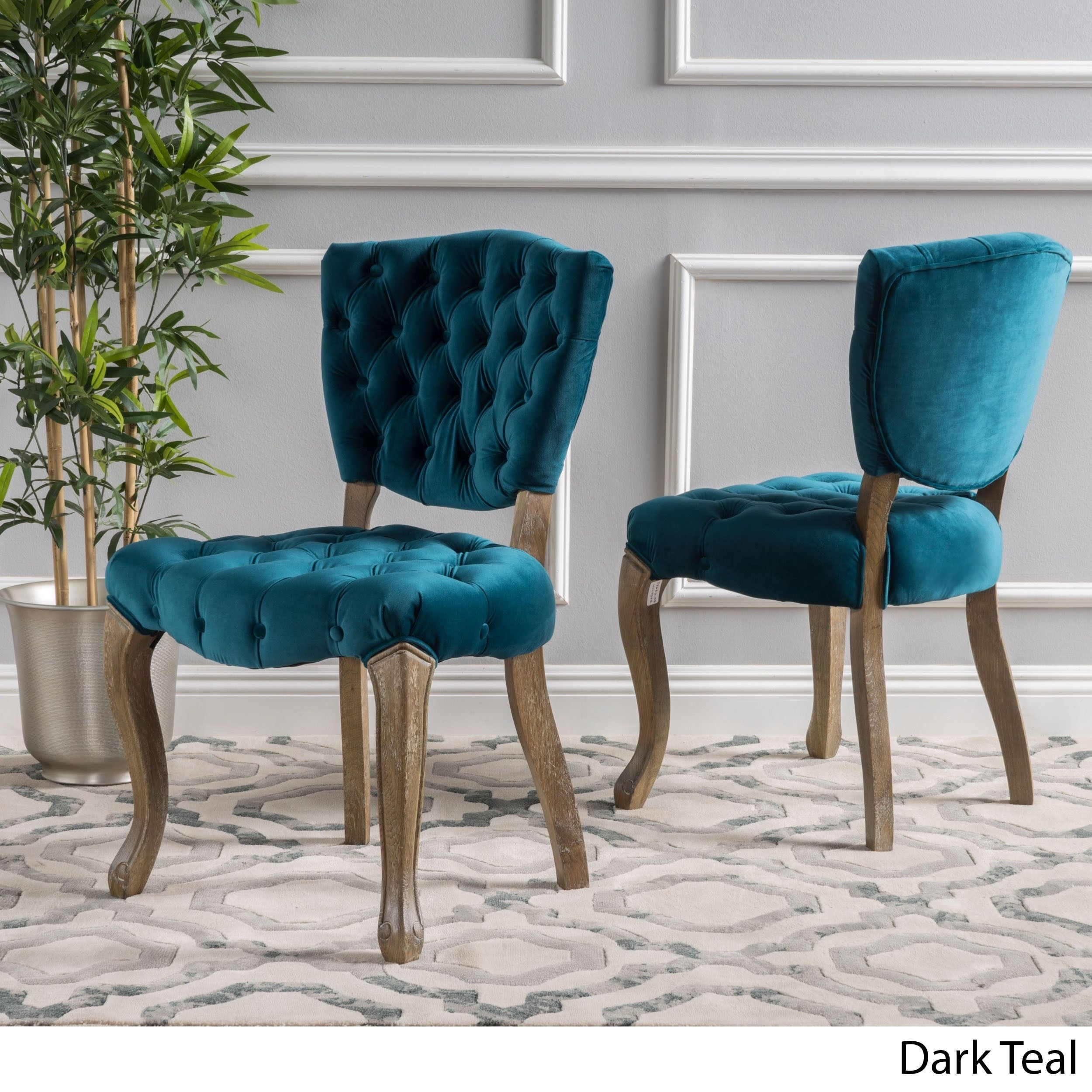 Christopher Knight Home Bates Tufted Dining Chairs Set of 2