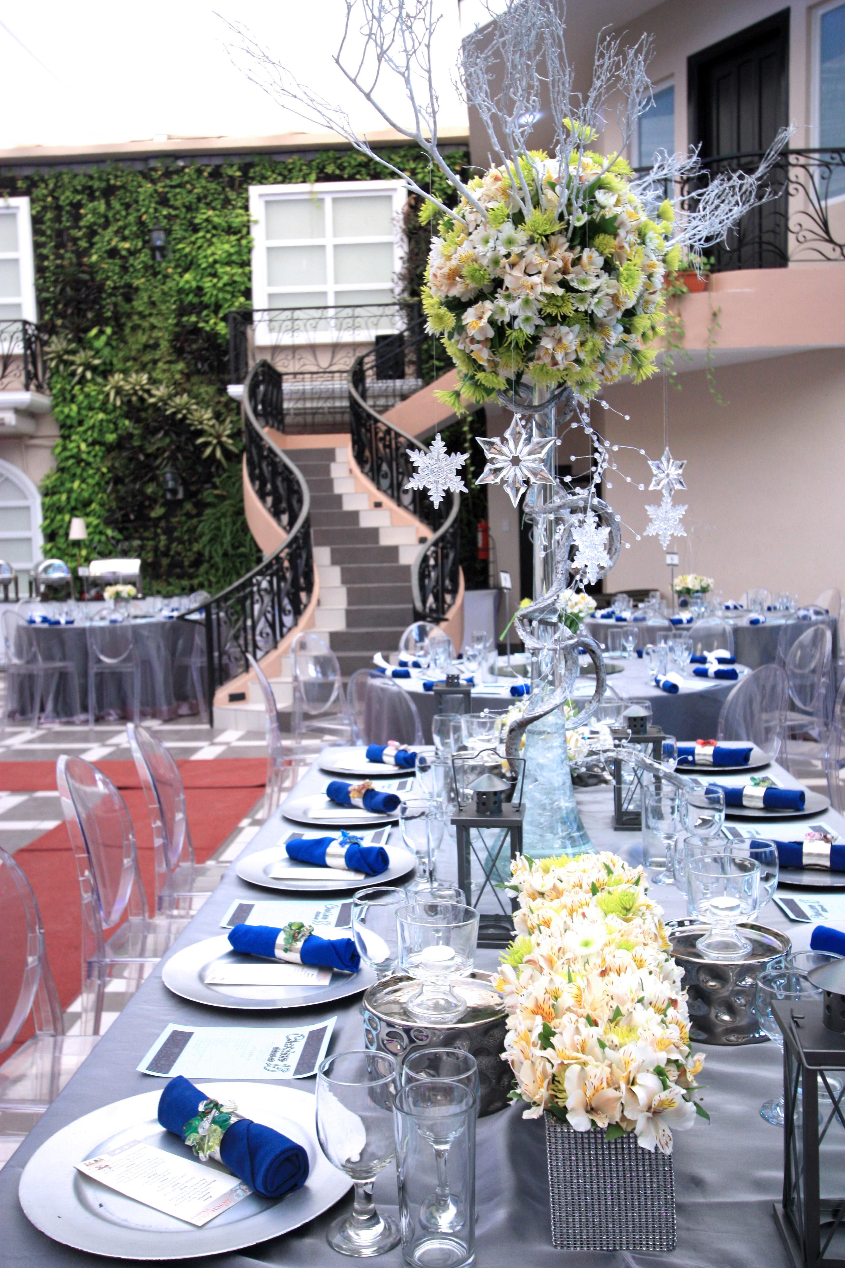 Inspiration for a stylish debut 18th birthday party with a Blue