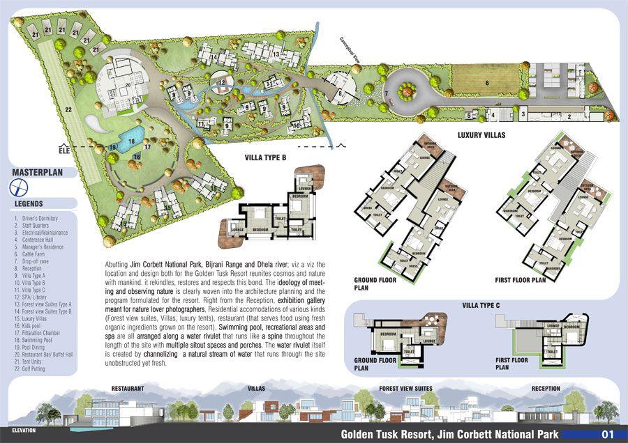 Golden tusk resort image m ofa studios everything for Architectural design concept sheet