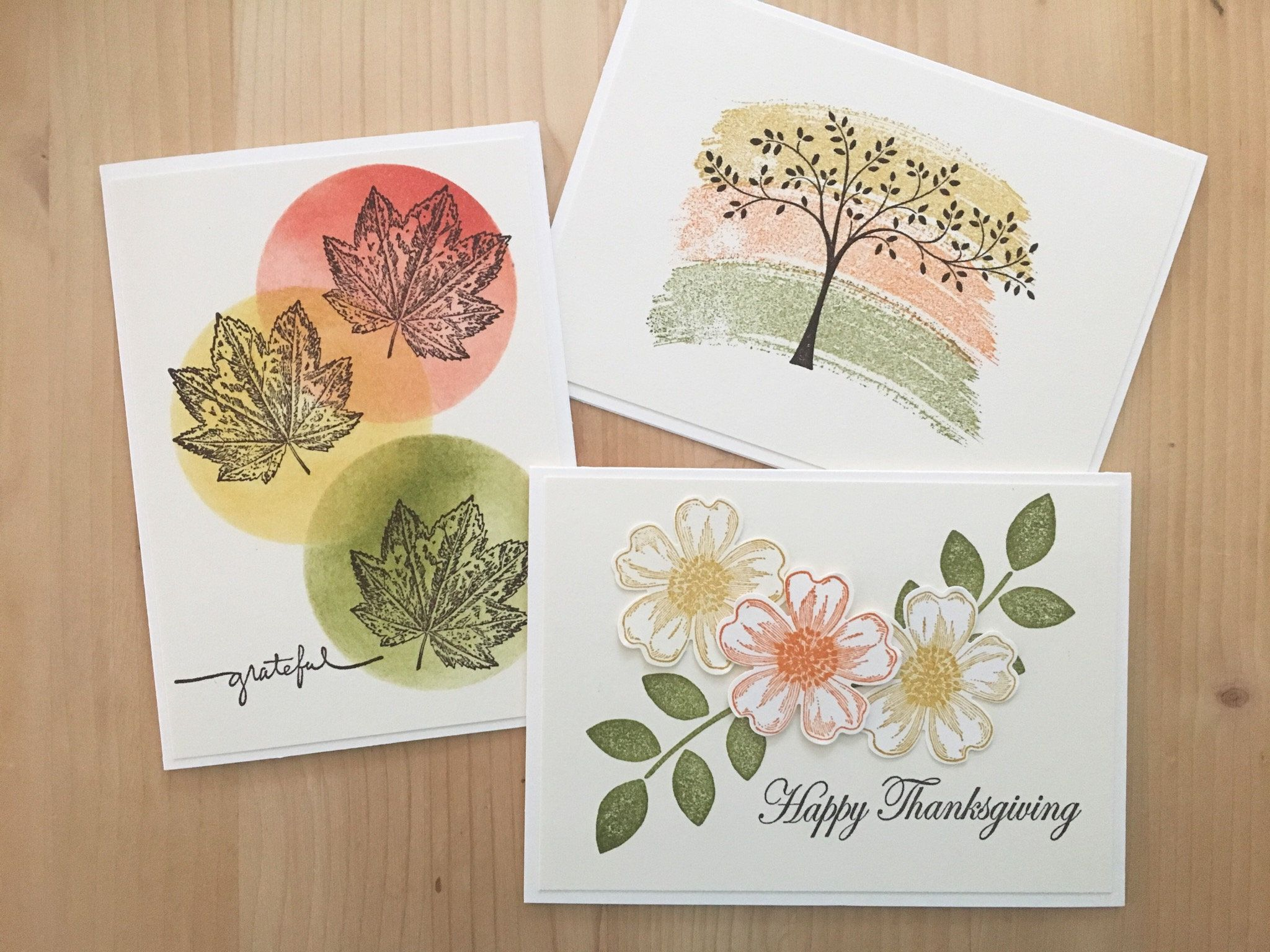Handmade Thanksgiving Cards Assortment Set Of Blank Fall Greeting