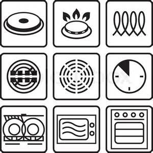 Cookware Symbols For Heat Source Capability On Cookware Bottoms Vintage Logo Design Symbols Vector