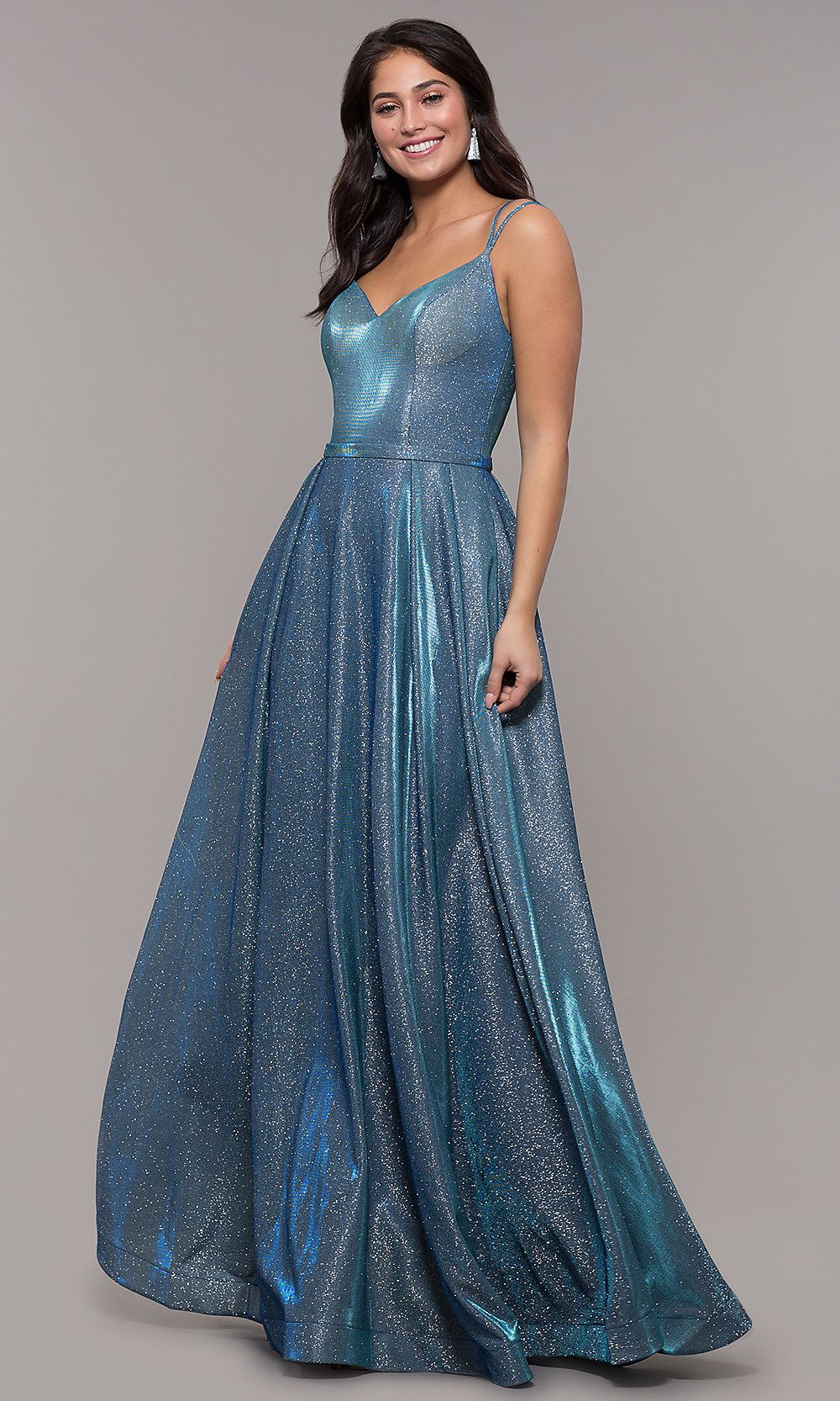 Metallic Long Sweetheart Formal Sparkly Prom Dress Jersey Prom Dress Metallic Prom Dresses Prom Dresses With Pockets
