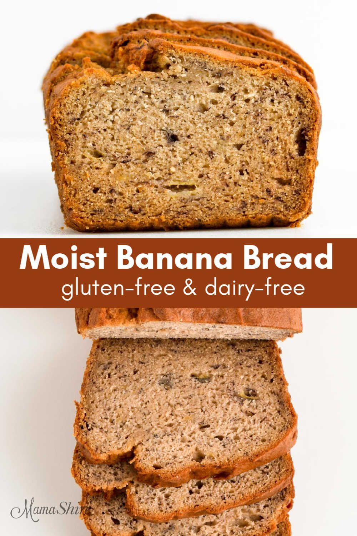 Moist Gluten Free Banana Bread Dairy Free Recipe In 2020 With Images Gluten Free Banana Bread Easy Banana Bread Dairy Free
