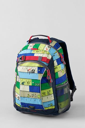 ec78ee2e5e Love the ruler motif and fun colors of this Land s End backpack. They put  it in boys  section