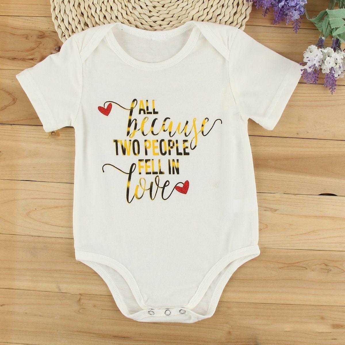 17742bfac684 Cottonborn Infant Baby Boy Girls Bodysuit Romper Jumpsuit Clothes Outfits