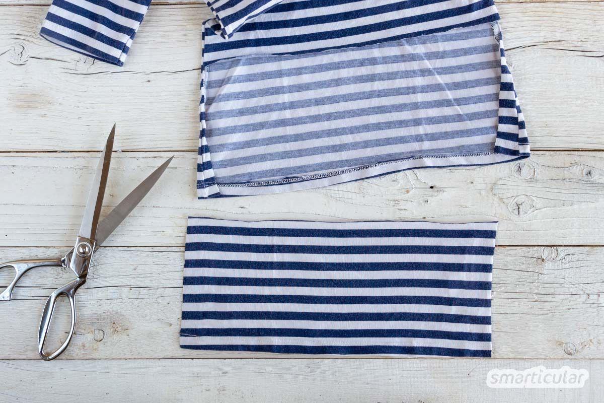 Photo of Upcycling des Mundschutzes von einem T-Shirt: Fertig in zwei Minuten ohne Nähen