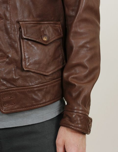 Levi's Vintage Clothing 1930s Menlo Leather Jacket - Nitty Gritty Store