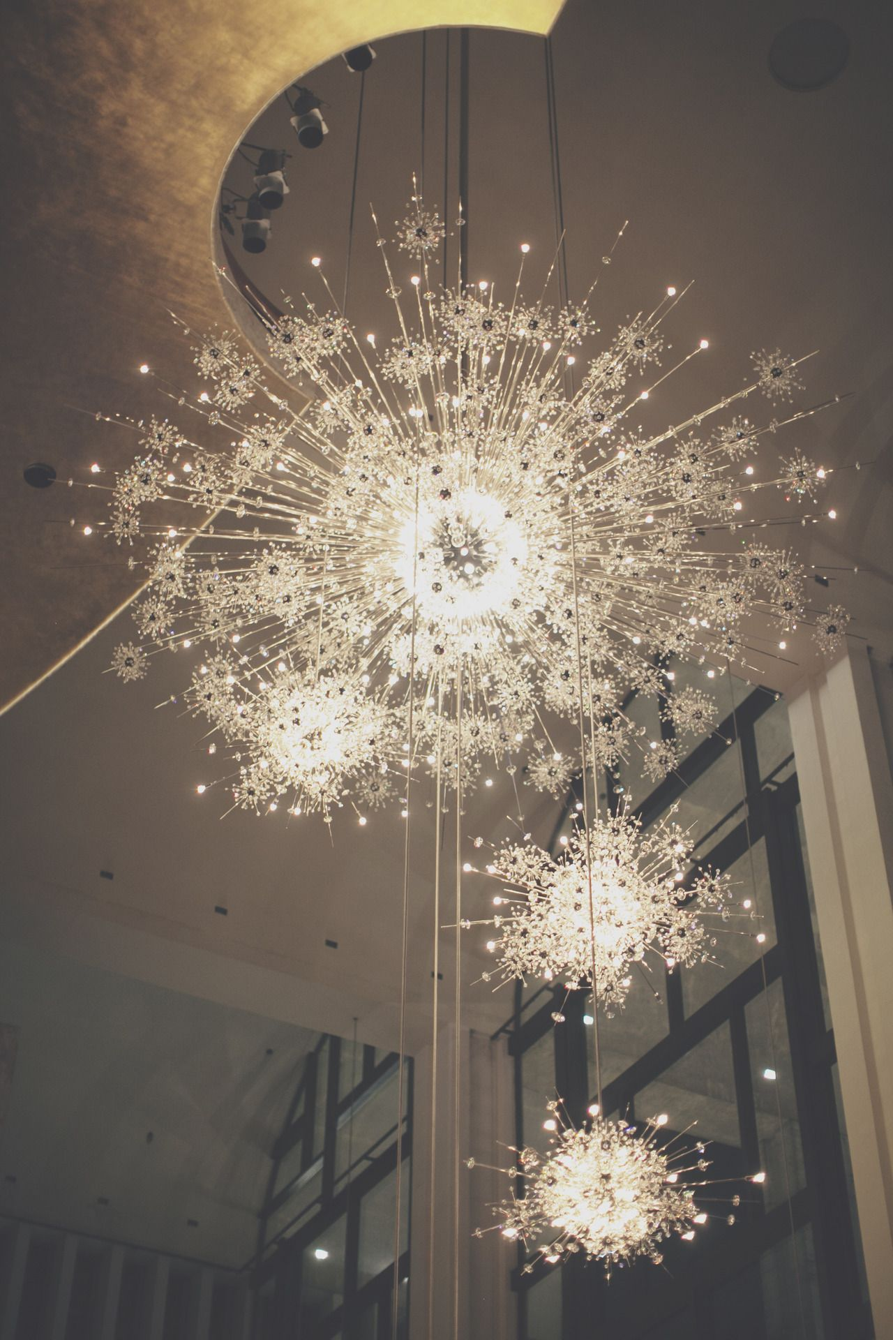 The chandeliers at the Metropolitan Opera photo by James Nord