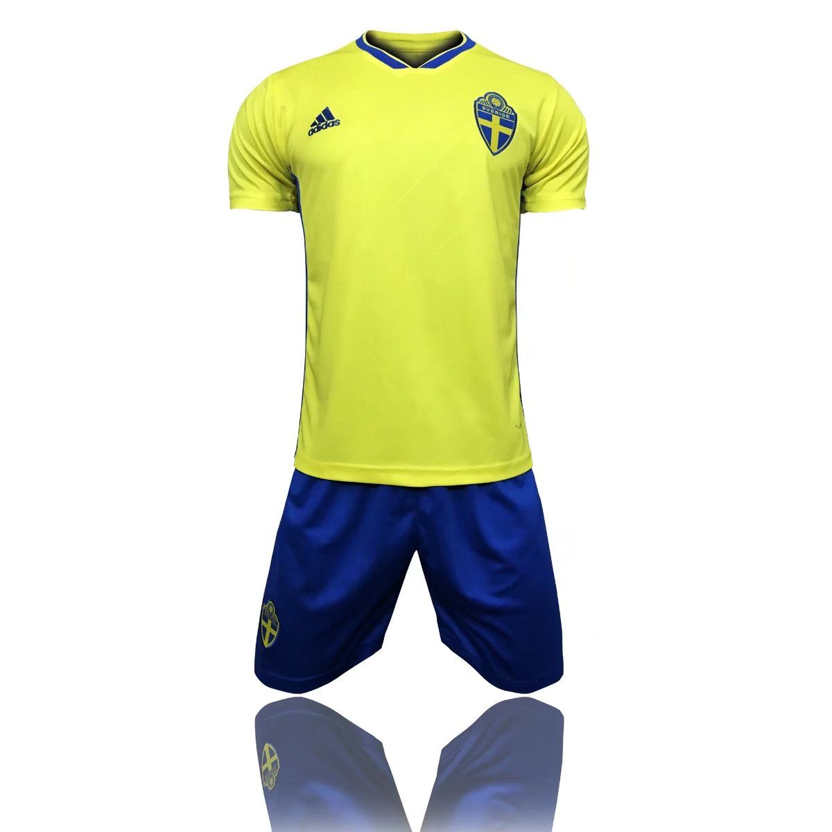 11.99 usd 2018 Adult Sweden Home Yellow Soccer Jersey Uniforms Russia World  Cup Football Team Kits Custom Name Number b54f53491