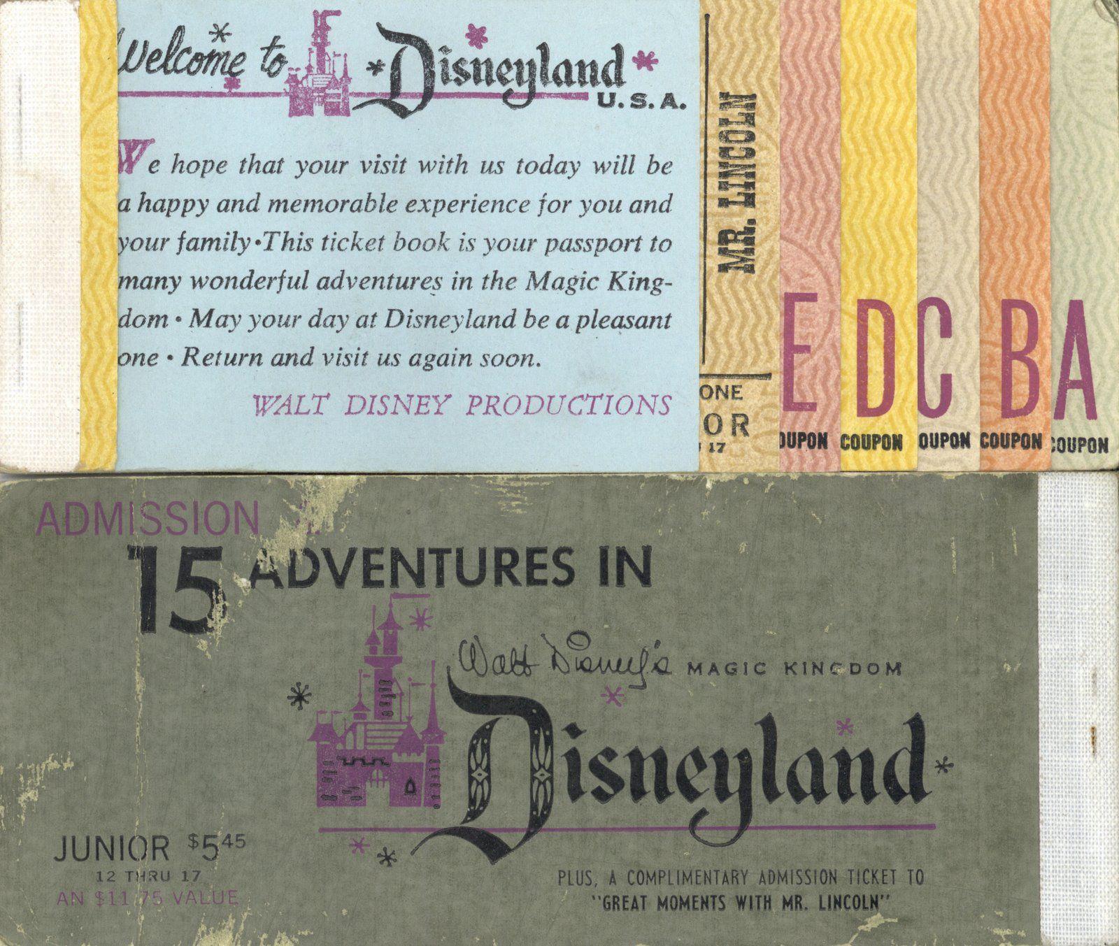 DIY Vintage Disneyland Ticket Book Wedding Invitations