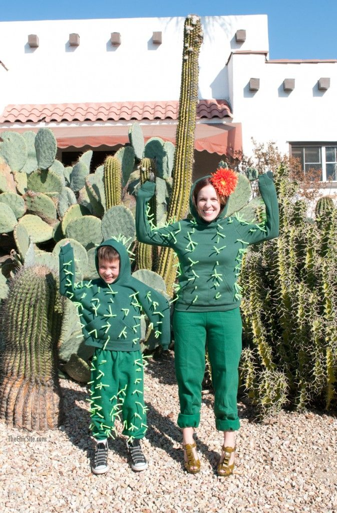 DIY Cactus Halloween Costumes ~ for adults and kids | Happy ...