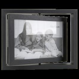 cadre photo pivotant bois 25x20cm cadres photos d coration murale d coration action. Black Bedroom Furniture Sets. Home Design Ideas