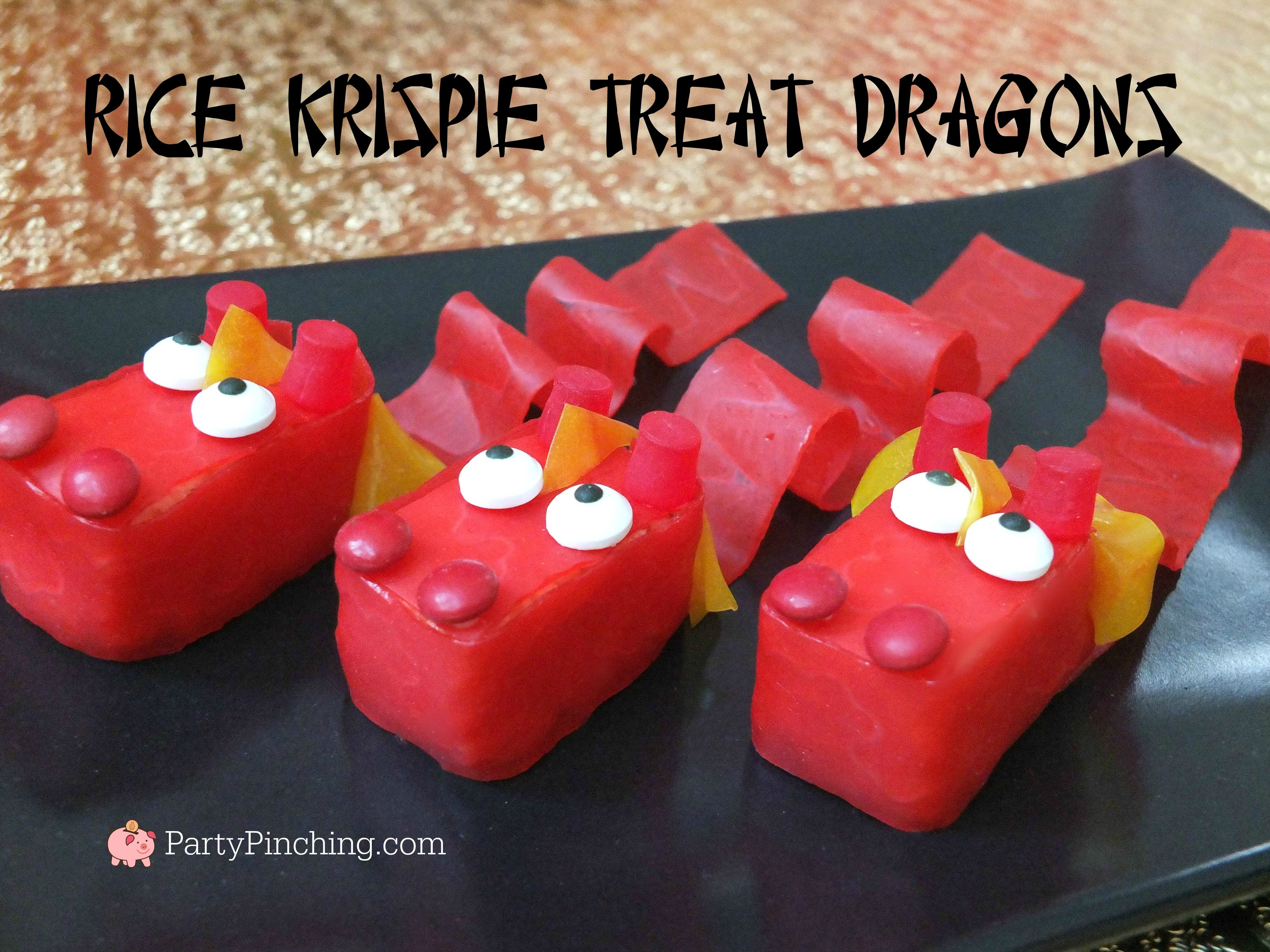 Rice Krispie Dragon Treats for Chinese Lunar New Year easy