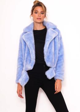 Blue Fur Shorts