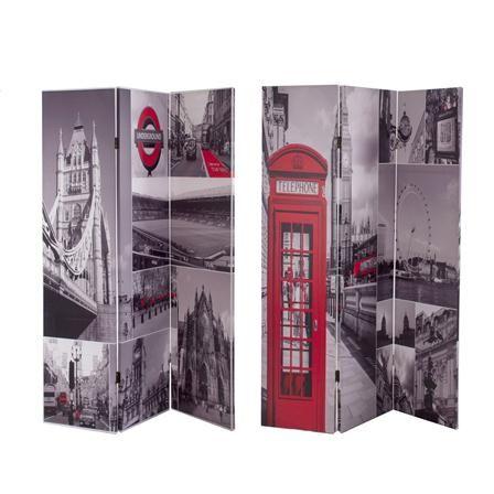 Biombo bifacial Londres de Estilo Contemporáneo