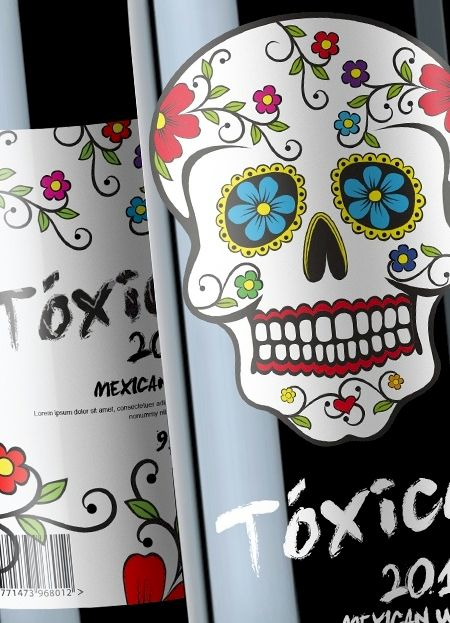 Toxico Mexican wine...yum