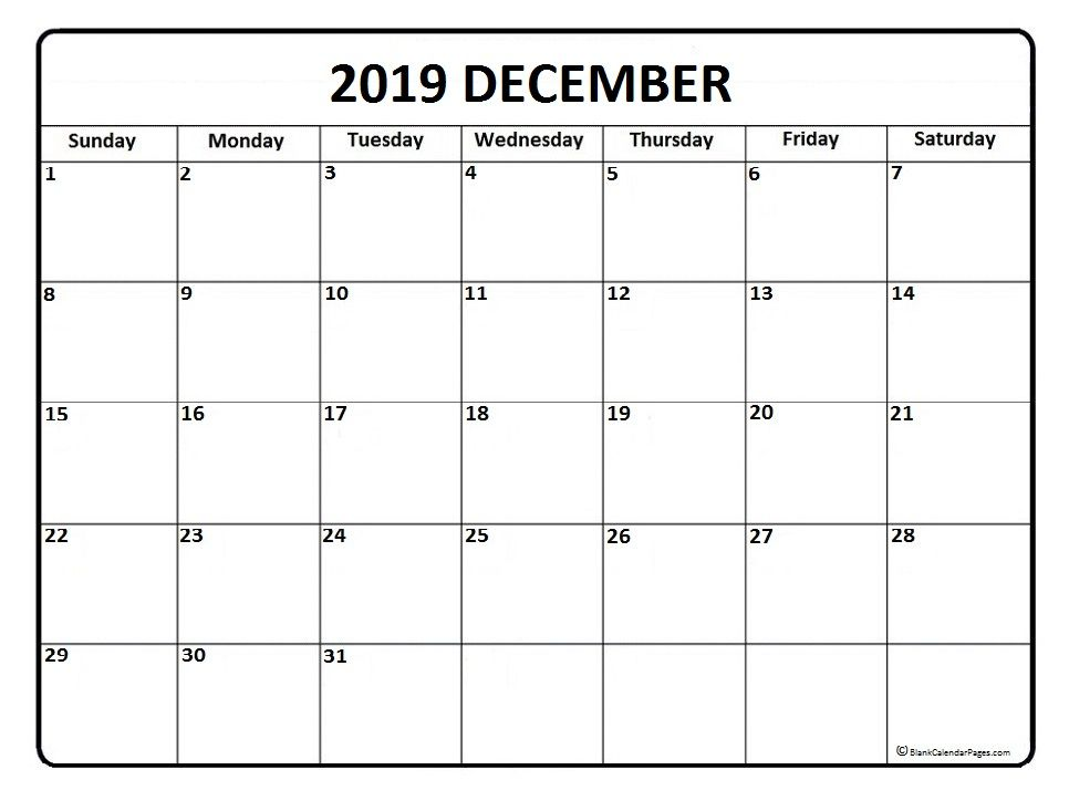 picture relating to Printable Monthly Calendar December identified as December 2019 calendar . December 2019 calendar printable