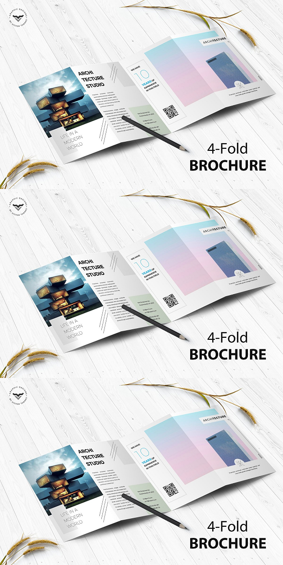 Sign In Architecture 4 Fold Brochure Architecture Brochures Brochure Brochure Design Template