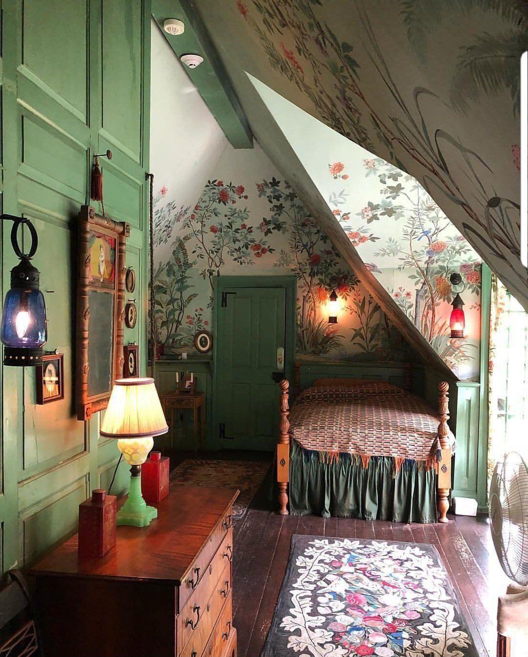 I love this cozy attic bedroom.