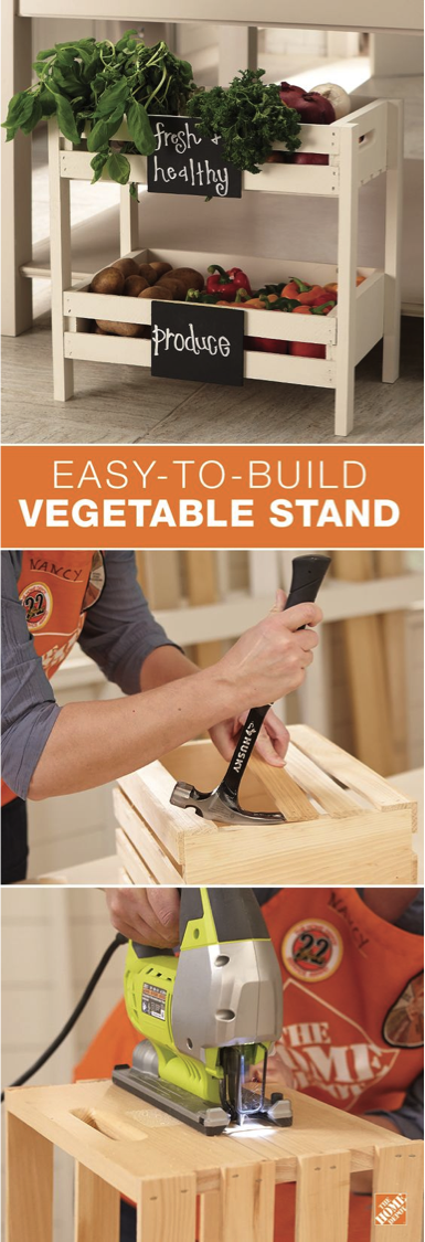 #DIY Produce Stand. Love This Kitchen Project On Home