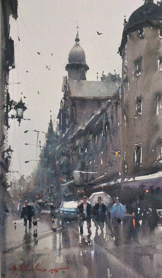 Joseph Zbukvic Watercolor Landscape Contemporary