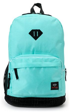 ad84262be3 Diamond Supply Co. Blue   Black Croc School Life Backpack ...