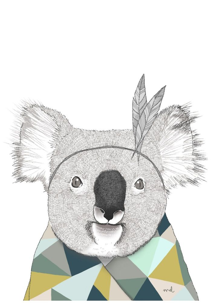 Decoration Chambre Koala Affiche Koala // Minimel | ♥ Illustrations ♥ En 2019