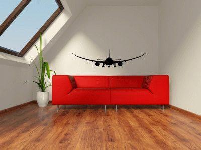 Boeing Airplane Silhouette Vinyl Wall Decal Sticker - How to make vinyl wall decals with silhouette