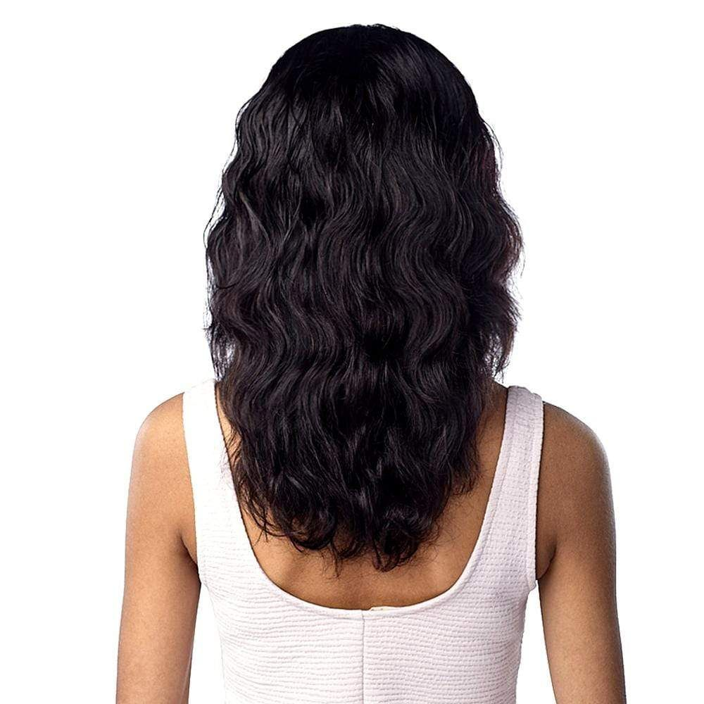 10A BODY WAVE - Sensationnel Unprocessed Virgin Human Hair Lace Wig Type: Unprocessed Virgin Human Hair Lace Wig Color Shown : Natural Overview: Mid-length Body Wave style that passes the shoulder 10A Unprocessed Bundle Import Ear-To Ear Hand-Knotted Lace Deep Lace Parting Dye, Bleach, Perm