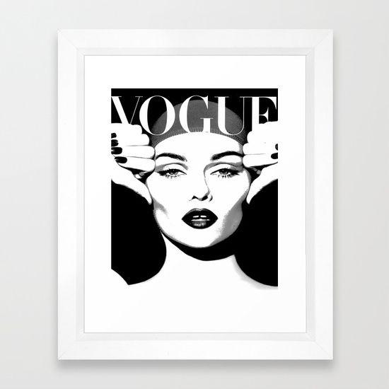 Vogue print fashion poster digital download printable art retro poster modern wall art vintage framed art