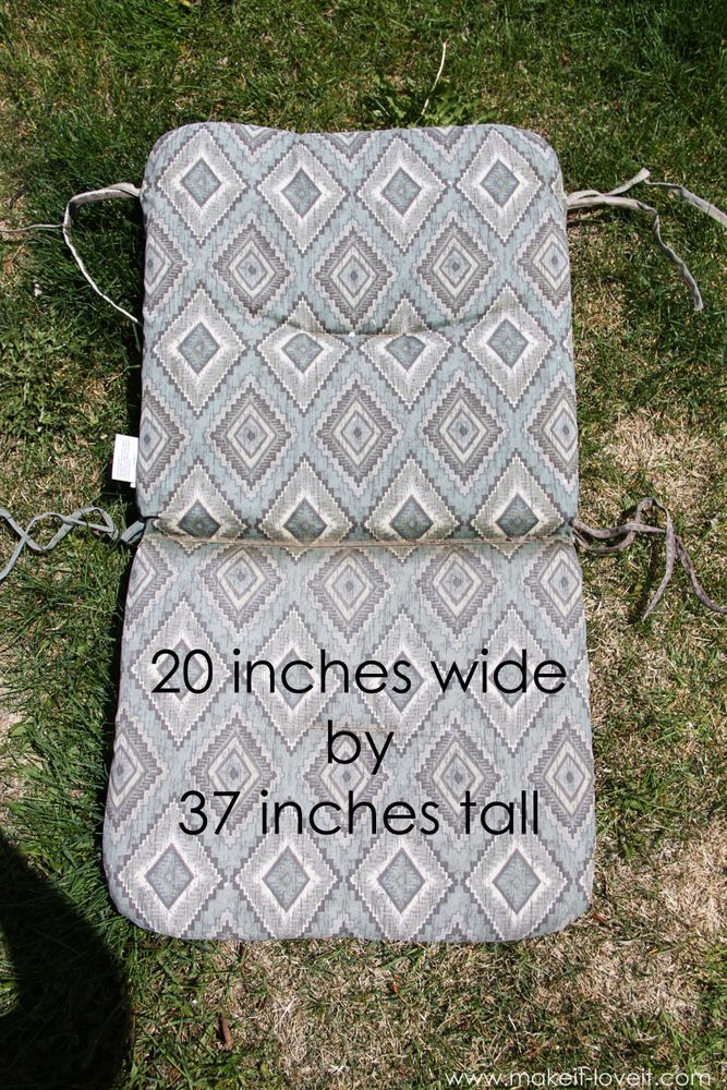 Make Your Own Reversible Patio Chair Cushions Decor