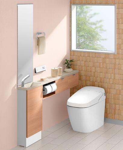 Lixil トイレ トイレ手洗い キャパシア 施工イメージ 0 5坪 手洗器一体型2 トイレ おしゃれ トイレ インテリア トイレ コーディネート