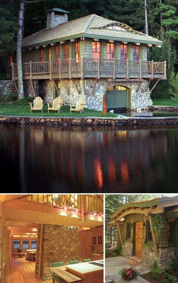Boathouse in Northern Wisconsin by Douglas Kozel and