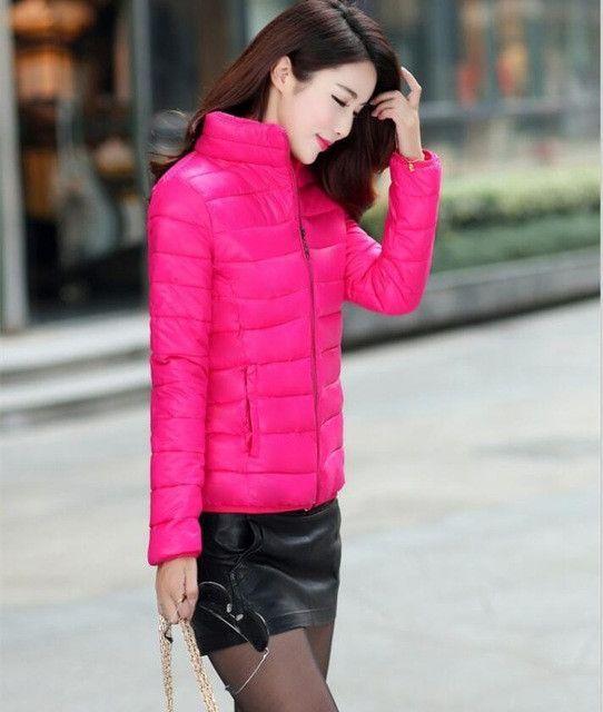 Winter Jacket Coat Women 2017 New Winter Women Parka Short Slim Thickening  Down Cotton-padded