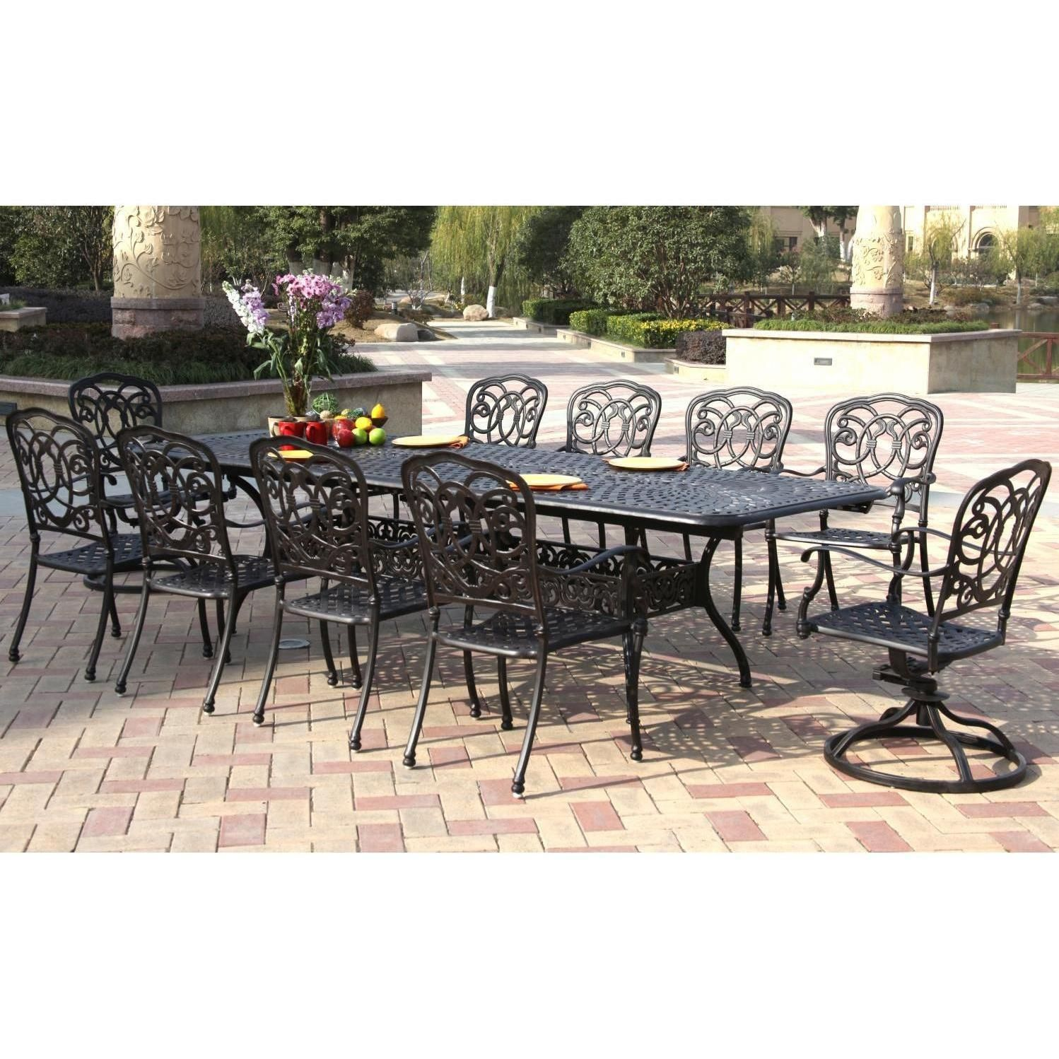Darlee Florence 10 Person Patio Dining Set Expandable