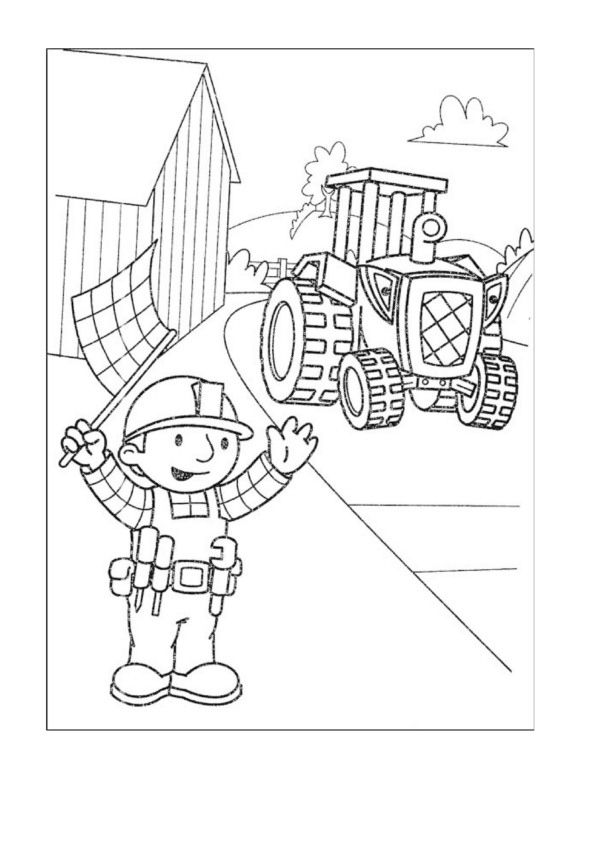 Bob the Builder Coloring Pages 38 Coloring pages for kids - new online coloring pages for cars