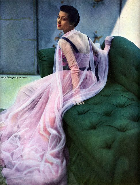 Vogue October 1947    Photo by John Rawlings--- uh why can't I dress like that every day? Oh yeah, kids.