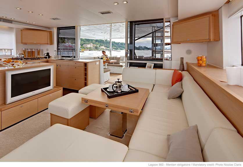 Lagoon 560 Interior | Catamaran | Pinterest | Interiors and ...