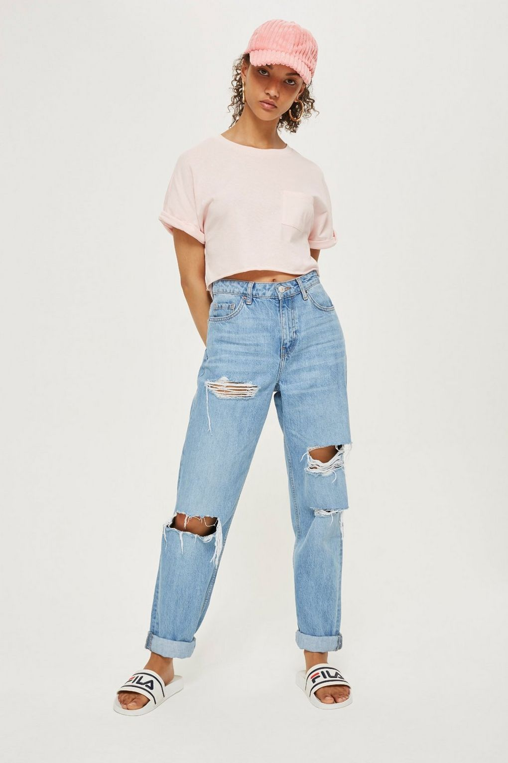 9dca9a57b2a Cut Off Cropped T-Shirt - New Semester Essentials - Clothing - Topshop USA  Product