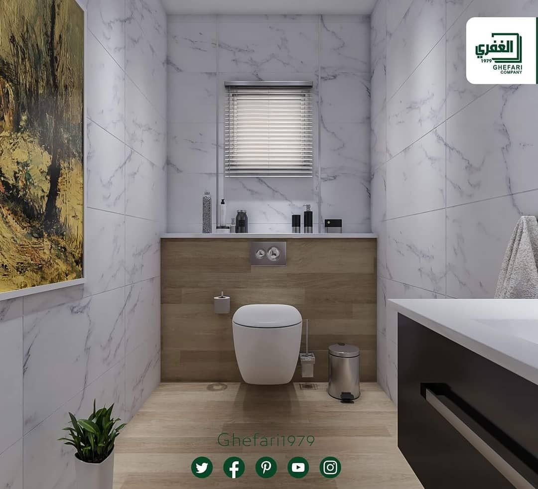 تصاميم لأحد زبائننا بورسلان اسباني مقاس 37 5x75 نخب أول متوفر بعدة ألوان سكني بيج للمزيد زورونا على موقع الشركة Www Ghefa Instagram Posts Toilet Bathroom