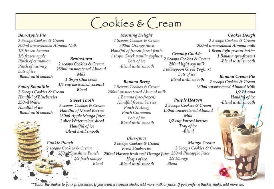 Cookies And Cream Herbalife Shake Recipes Herbalife Recipes Herbalife Cookies And Cream