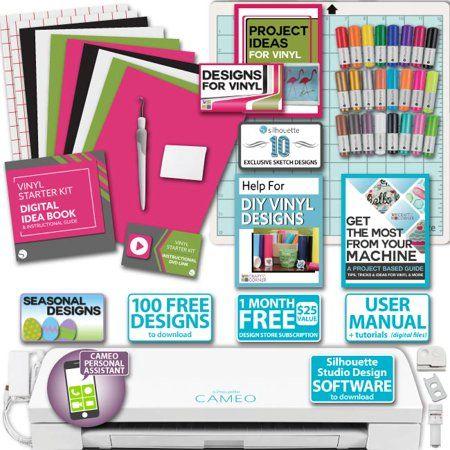 Silhouette Cameo 3 Bundle Vinyl Starter Kit Sketch Pens