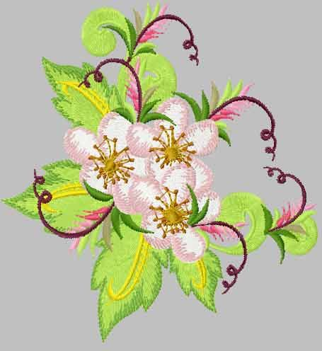 Strawberry Flowers Free Embroidery Design Flowers Free Machine