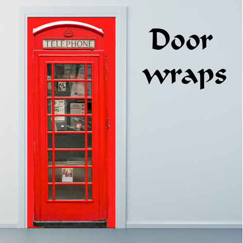 Red British Telephone Box Door Wraps | Door wraps, Bath ...