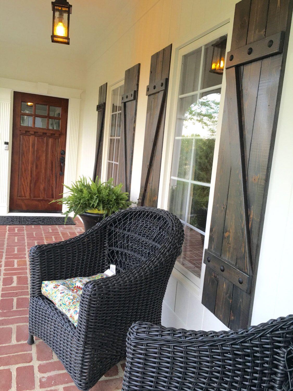 Z BRACE -Wood Shutters- cedar exterior shutters- Z Bar Shutters ...